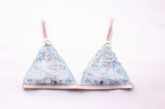 Tangled Up in Blue bralette by blue hours atelier. Click through for more examples of lingerie designs, pattern making, and where to shop designs.