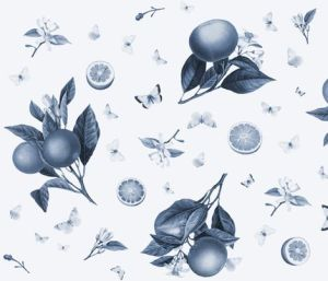 Porcelain botanical print fabric design by blue hours atelier. Click through for more examples of custom fabric design, lingerie work, and where to shop designs.