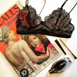 Cleopatra bralette by blue hours atelier. Click through for more examples of lingerie designs, pattern making, and where to shop designs.